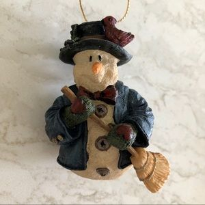 Boyd's Bears Wily With Broom Snow Doodles Ornament